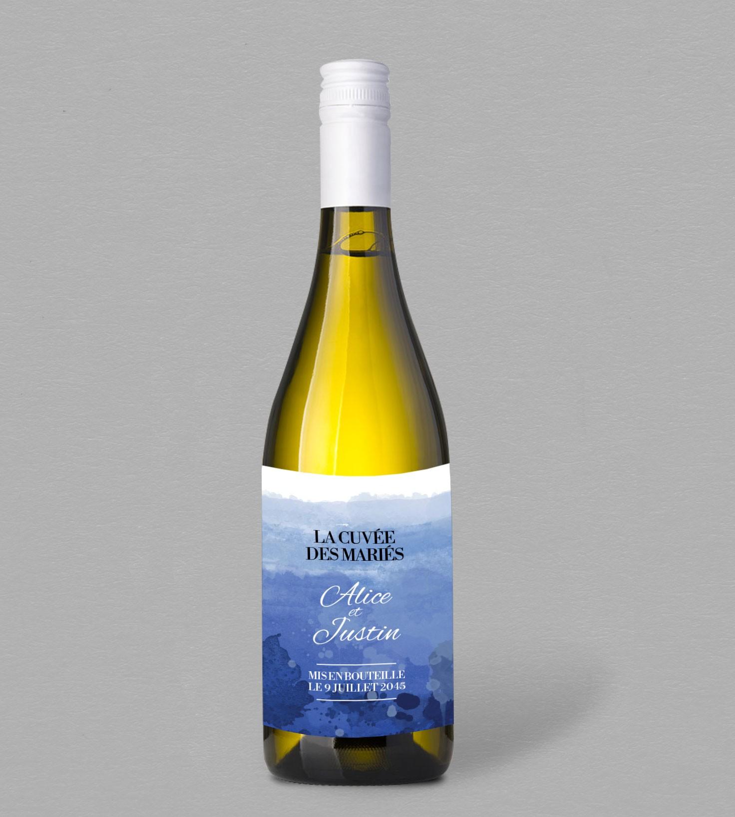 Etiquette Bouteille De Vin Infinity Blue Pour Une Table Tout En Bleu