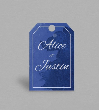 Etiquette boite à cadeaux Infinity Blue
