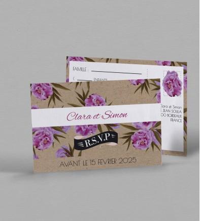 Carton réponse champêtre Victorine