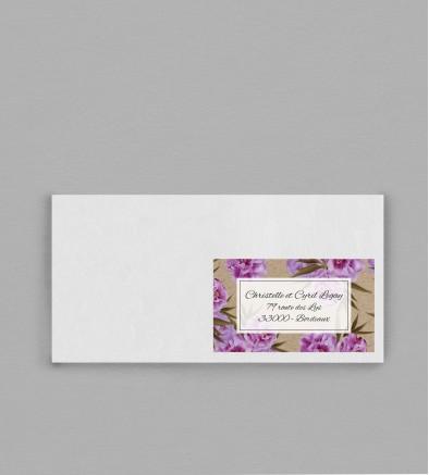 Etiquette enveloppe champêtre Victorine