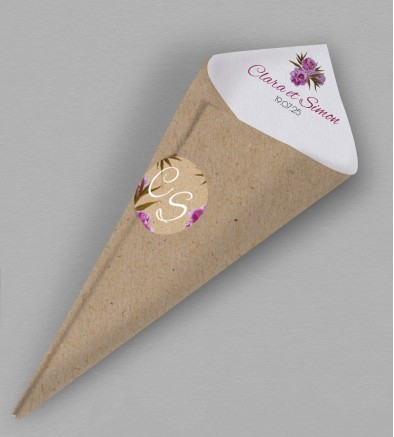 Cornet confettis champêtre Victorine