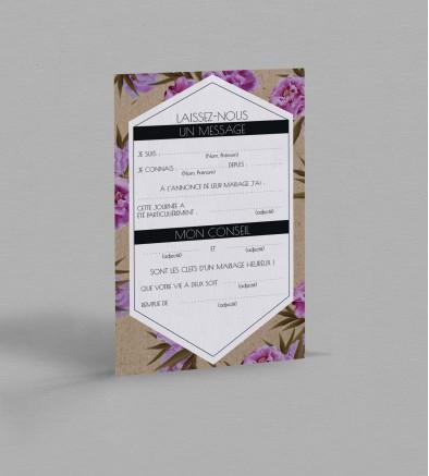 Carte urne champêtre Victorine