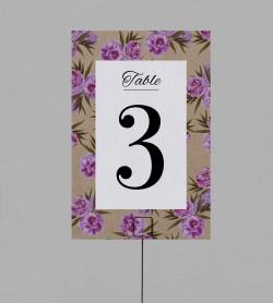 Numéro de table champêtre Victorine