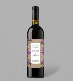 Etiquette bouteille de vin champêtre Scarlet Victorine