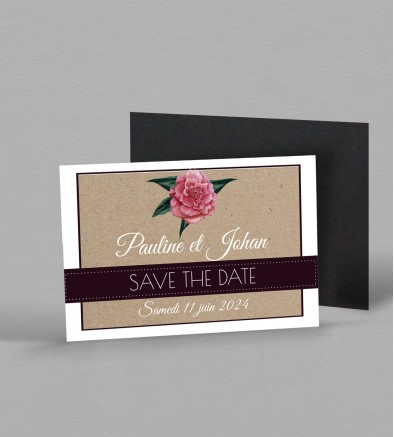 Save the date magnet Camélia