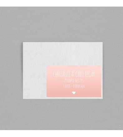 Etiquette enveloppe Delicate