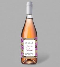 Etiquette bouteille de vin champêtre Victorine