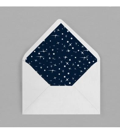 Intérieur enveloppe vintage étoiles