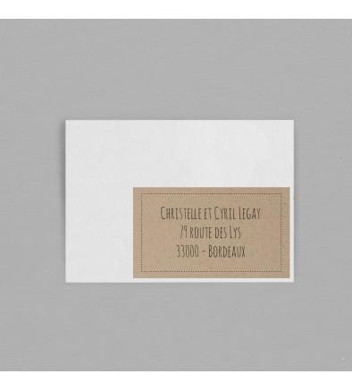 Etiquette enveloppe Vintage Kraft