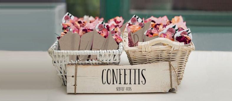 Cornet confettis Champêtre Camélia