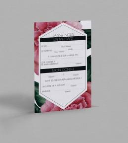 Carte urne champêtre Camélia