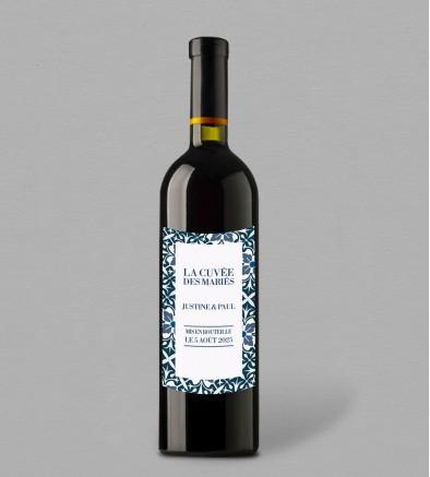 Etiquette bouteille de vin Jeanne