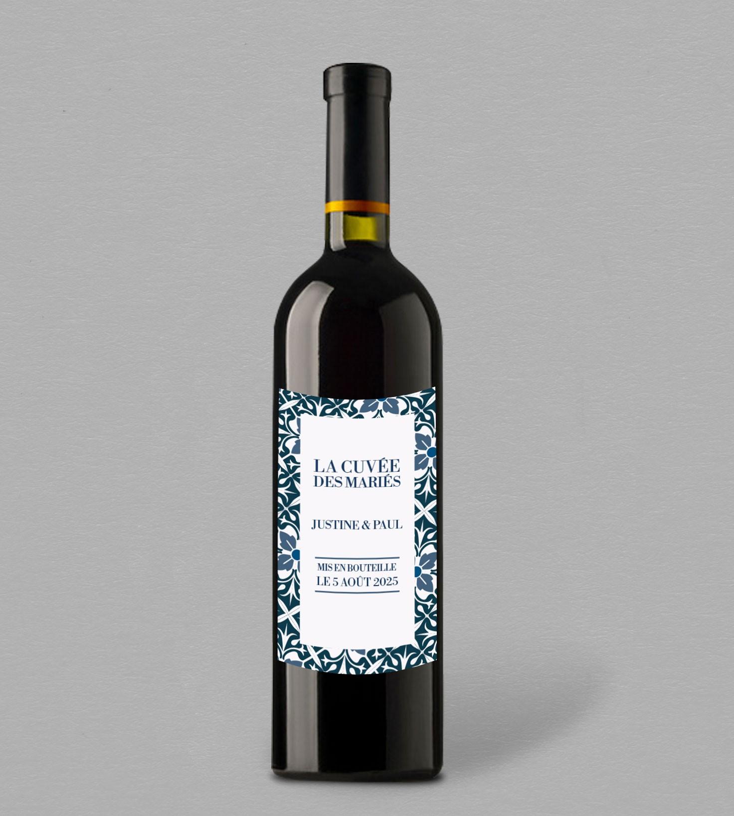 etiquette bouteille de vin personnaliser en ligne collection jeanne. Black Bedroom Furniture Sets. Home Design Ideas
