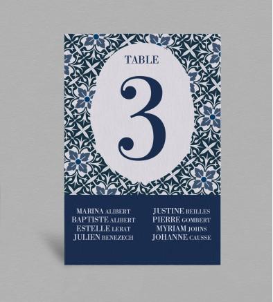Plan de table Jeanne