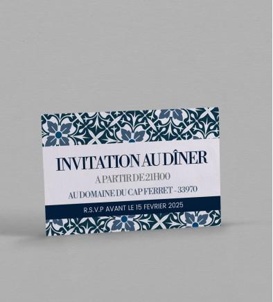 Invitation repas Jeanne