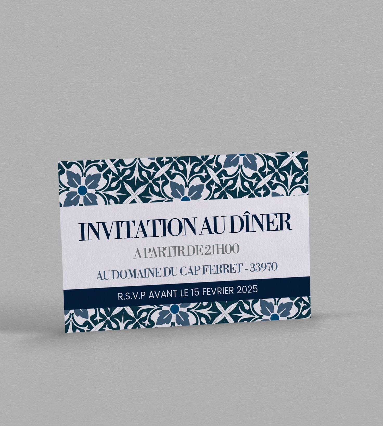 Carton dinvitation au dner de la collection jeanne personnaliser invitation repas jeanne stopboris Gallery
