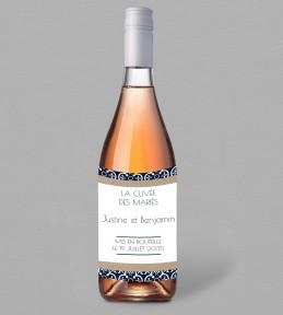 Etiquette bouteille de vin Félicie