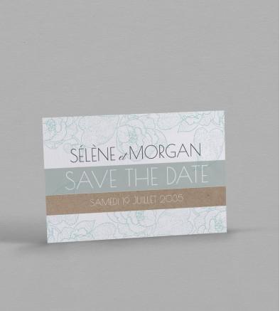 Save the date champêtre Fleurine