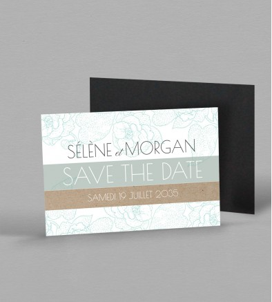 Save the date magnet Fleurine