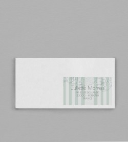 Etiquette enveloppe champêtre Fleurine