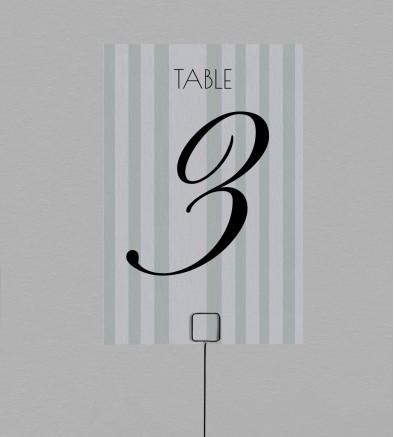 Numéro de table champêtre Fleurine