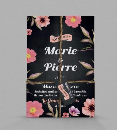 Faire-part de mariage champêtre Célestine