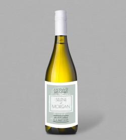 Etiquette bouteille de vin champêtre Fleurine
