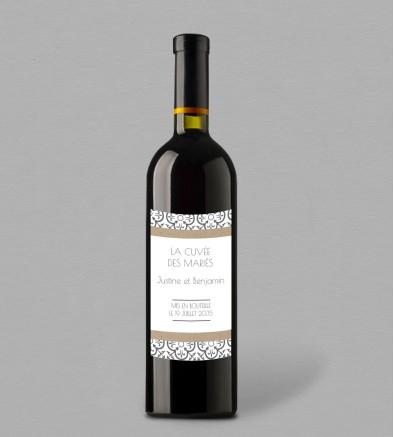 Etiquette bouteille de vin Salomée