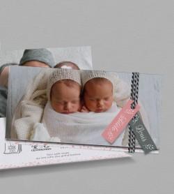 faire part naissance magnet liberty pour jumeaux personnaliser en ligne. Black Bedroom Furniture Sets. Home Design Ideas