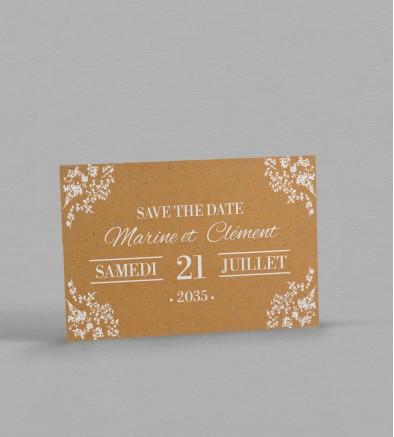 Save the date Champêtre chic Adèle
