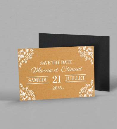 Save the date magnet champêtre Adèle