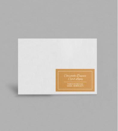 Etiquette enveloppe champêtre Adèle