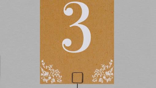 Numéro de table champêtre Adèle