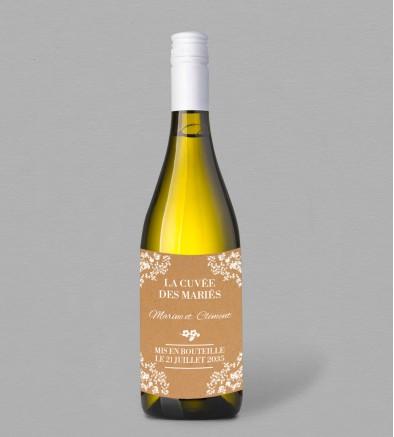 Etiquette bouteille de vin Champêtre Adèle