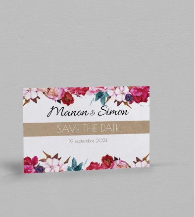 Save the date champêtre Andréa