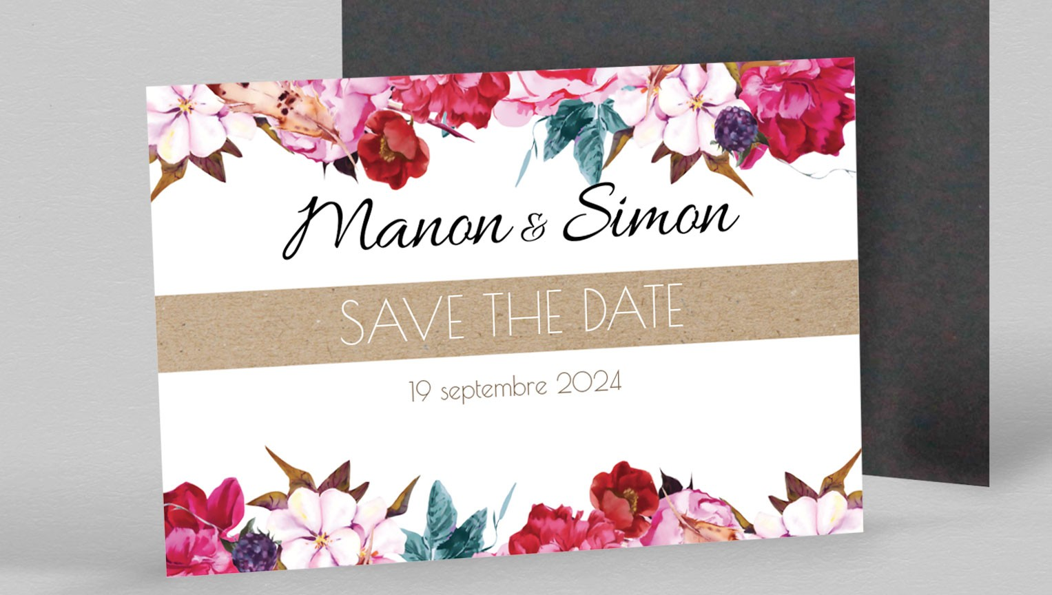 Save the date magnet Andréa