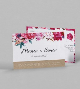 Carton réponse champêtre Andréa