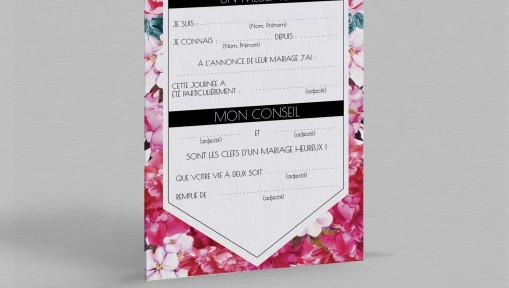 Carte urne champêtre Andréa