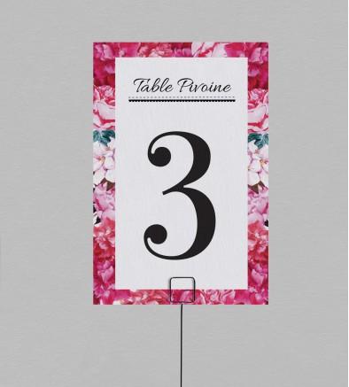 Numéro de table champêtre Andréa