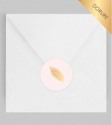 Macaron enveloppe Feuilles dorées