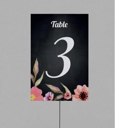 Numéro de table champêtre Célestine