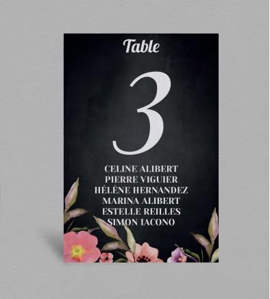 Plan de table champêtre Célestine