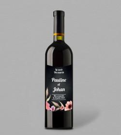 Etiquette bouteille de vin champêtre Célestine