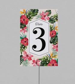 Numéro de table Exotique Mandala