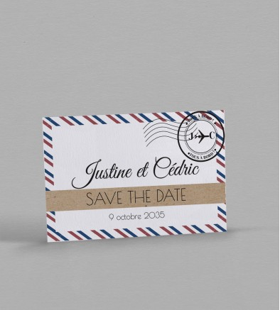 Save the date voyage Boarding pass