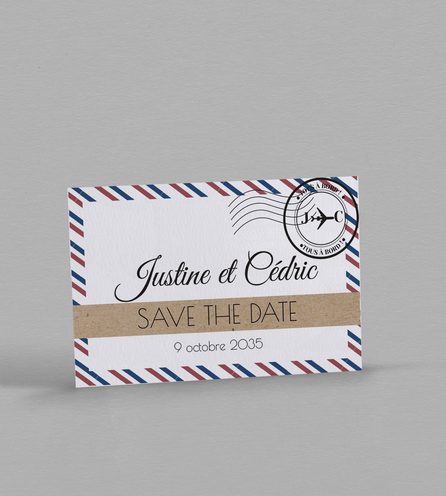 Vintage TICKET save the date cartes avec enveloppes-mariage invitations