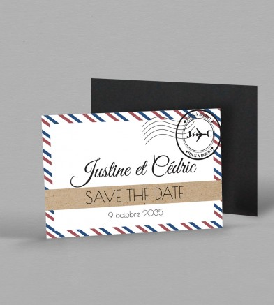 Save the date magnet Boarding pass