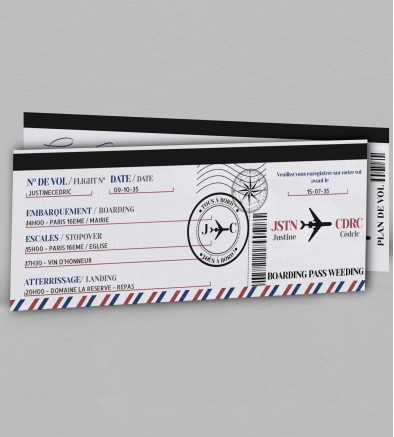 Programme voyage Boarding pass