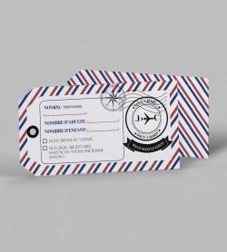 Carton réponse voyage Boarding pass