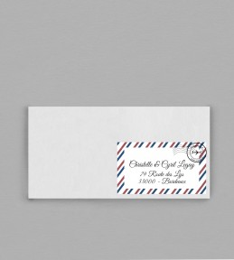 Etiquette enveloppe voyage Boarding Pass